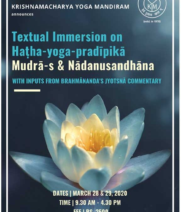 Two-Day International Textual Immersion Workshop on Haṭha-yoga-pradīpikā