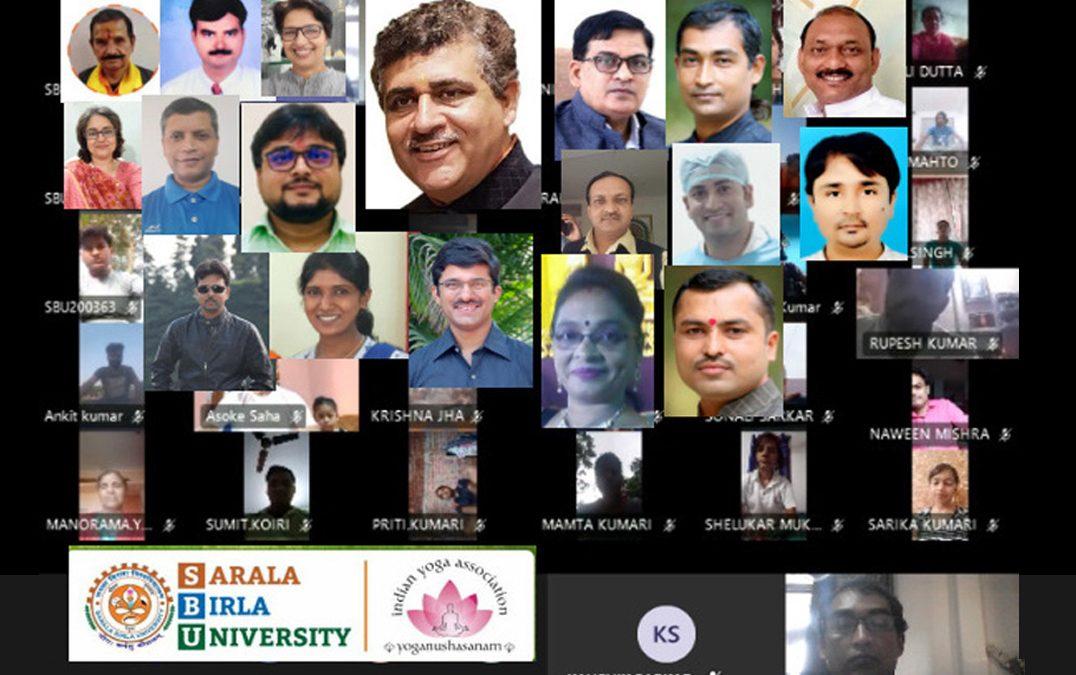 Jharkhand SCC organises Webinar on Yoga with SBU